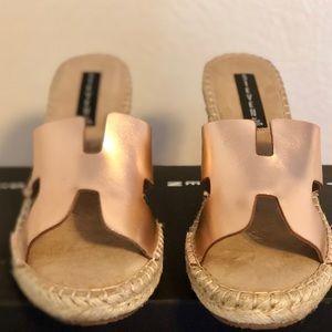 Steve Madden Women's Wedge Sandal in Rose Gold